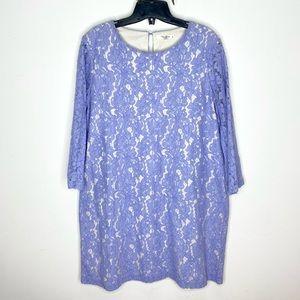 Darling London Long Sleeve Lace Overlay Dress
